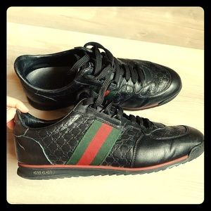 Gucci Leather SL73 Lace-up Sneaker Size 8